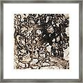 Monochromatic Hell Framed Print by Dayna Reed