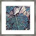 Monstera Blues Framed Print