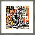 Montreal Hockey Lady Framed Print