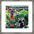Moo Cow Farm Framed Print