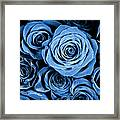 Moody Blue Rose Bouquet Framed Print