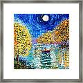 Moonlight Fishing Framed Print