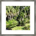 More Water And Green Framed Print