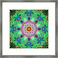 Moroccan Lace Mandala Framed Print