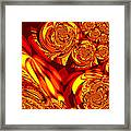 Moroccan Lights - Orange Framed Print