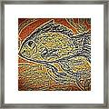 Mosaic Goldfish In Charcoal Framed Print