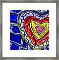 Mosaic Heart By Diana Sainz Framed Print