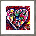Mosaic Heart Framed Print