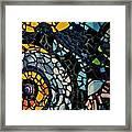 Mosaic Pattern On Wall Framed Print