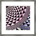 Mosaic Quarter Circle Bottom Right  Framed Print