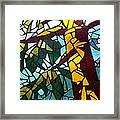 Mosaic Stained Glass - First Tree Framed Print by Catherine Van Der Woerd