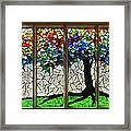 Mosaic Stained Glass - Roots Framed Print