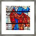 Moses And The Tablet Framed Print