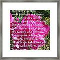 Most Powerful Prayer With Peony Bush Framed Print