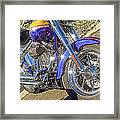 Motorcycle Without Blue Frame Framed Print