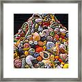 Mountain Of Gourds And Pumpkins Framed Print