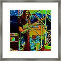 Mrdog #26 Enhanced In Cosmicolors 2 With Text Framed Print