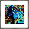 Mrdog #63 Enhanced In Cosmicolors Framed Print