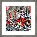 Mulberry Street Graffiti Framed Print
