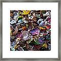 Multicolored Autumn Leaves Framed Print