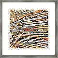 Multicoloured Slate Wall Framed Print