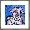 Mummy And Baby Pig  Framed Print