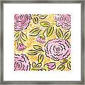 Mums And Roses Framed Print