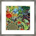 Music In Bird Of Tree Assymetrical Framed Print