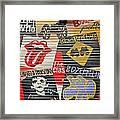 Music Street Art Color Framed Print