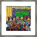 Mutts Quilting Framed Print by Jay  Schmetz
