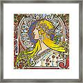 My Acrylic Painting As An Interpretation Of The Famous Artwork Of Alphonse Mucha - Zodiac - Framed Print