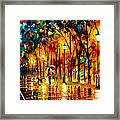 My Best Friend - Palette Knife Oil Painting On Canvas By Leonid Afremov Framed Print