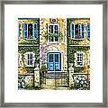 My French Villa Framed Print