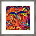 My Funny Little Clown Face - Color Love Framed Print