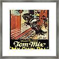 My Own Pal, Center Tom Mix, 1926, Tm Framed Print