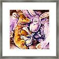 My Toys - Palette Knife Oil Painting On Canvas By Leonid Afremov Framed Print