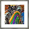 Mystic Stripers Tiger Emblem Abstract Framed Print