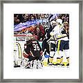 Nashville Predators V Anaheim Ducks - Framed Print
