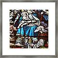 Nativity Stained Glass Framed Print