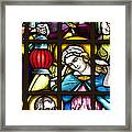 Nativity Window Framed Print