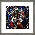 Nativity With Kings Framed Print