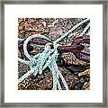 Nautical Lines And Rusty Chains Framed Print