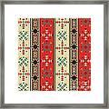 Navajo Style Pattern Framed Print