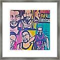 Nba Nuthin' But Africans Framed Print by Tony B Conscious