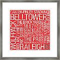 Nc State College Colors Subway Art Framed Print