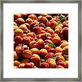 Nectarines For Sale At Weekly Market Framed Print