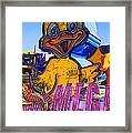 Neon Duck Framed Print by Garry Gay