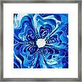 New Blue Glory Flower Art - Buy Prints Framed Print