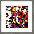 New England Abstract Painting Original By Zee Clark  Framed Print