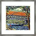 New England Covered Bridge By Prankearts Framed Print by Richard T Pranke